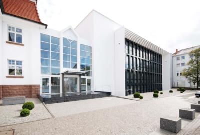 Dr. Theiss Naturwaren Verwaltung, Homburg, Eingangsbereich