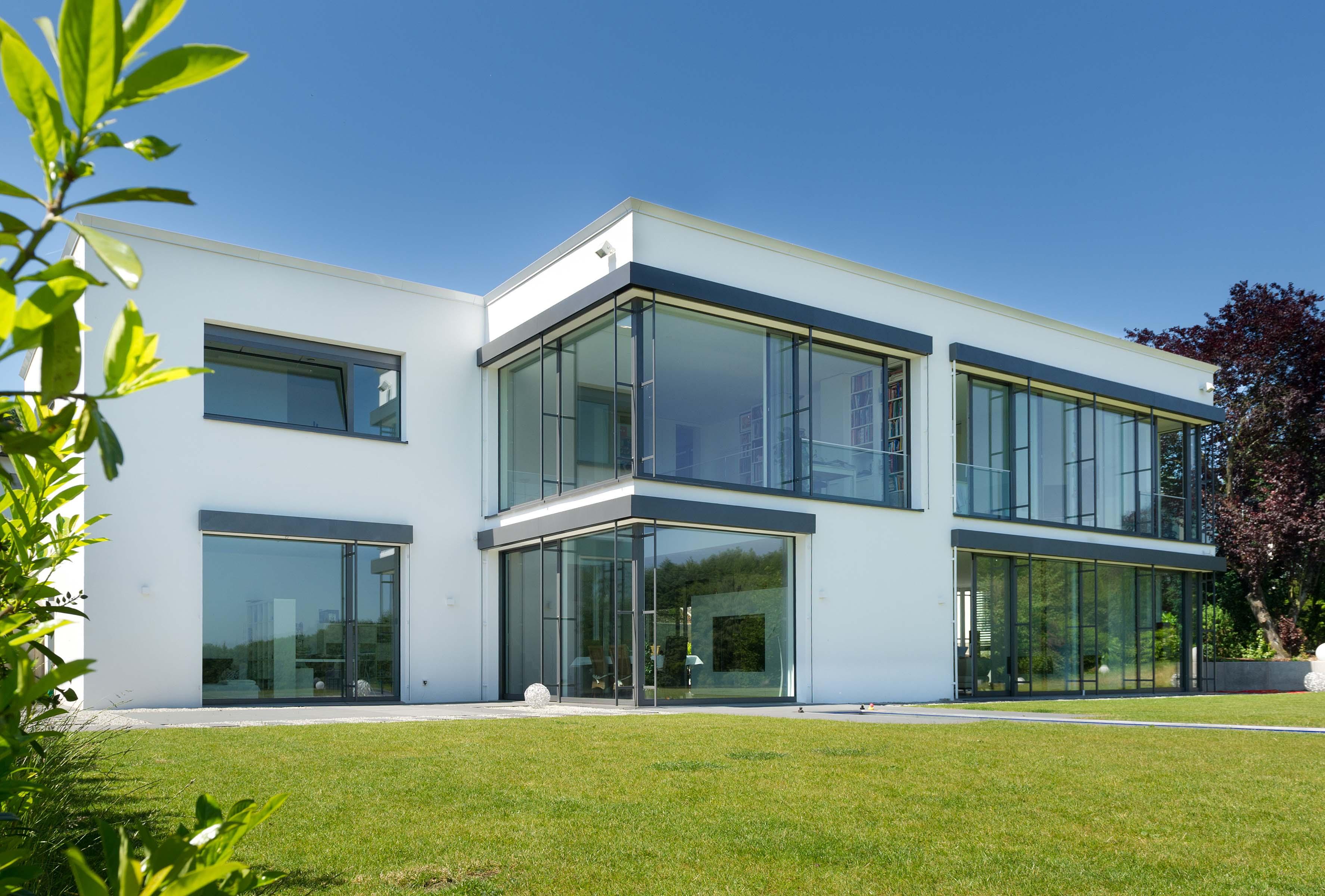 Wohnhaus mit Glasfassade