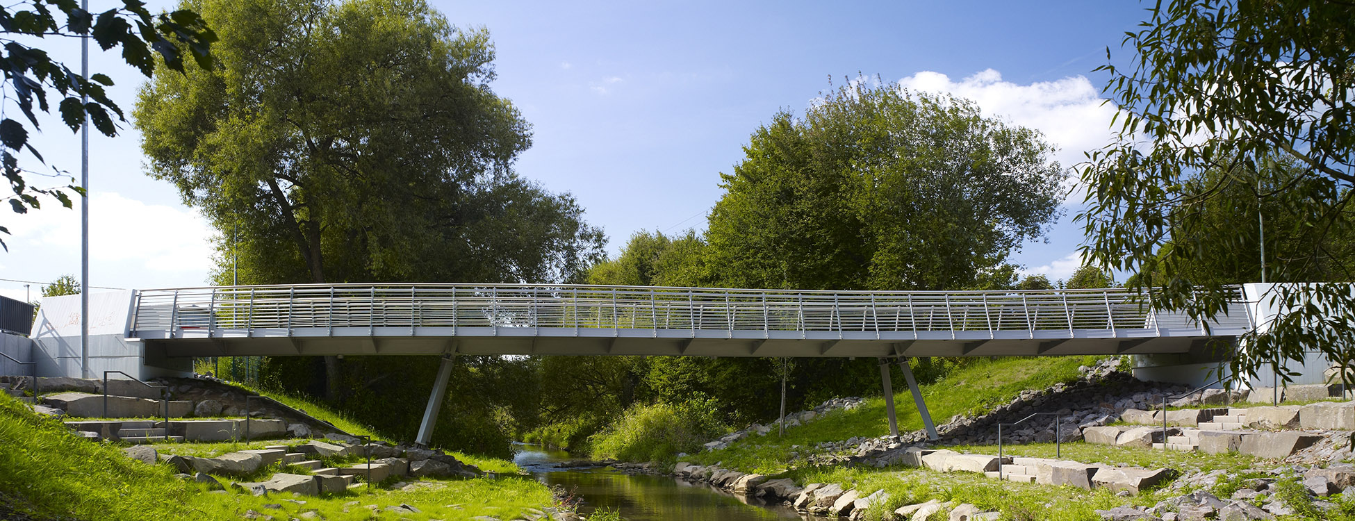 Seitenansicht Brücke über die Theel